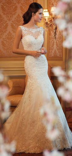elegant wedding dress with lace