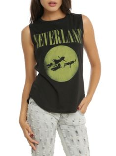 Disney Peter Pan Neverland Girls Muscle Top (made to look like Nervana's smiley face t shirt logo)