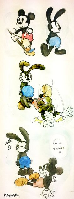 Epic Mickey2- old grudges by ~twisted-wind on deviantART