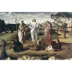 Transfiguration 1465-70 Giovanni Bellini (1430-1516 Italian) Canvas Art - Giovanni Bellini (18 x 24)