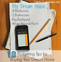 10 Budgeting Tips for Buying Your Dream Home - Simple Living Mama Budget, Budgeting Tips, #budget