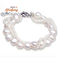 Aliexpress.com : Acquista [Yinfeng] 100% reale d'acqua dolce naturale della perla a più strati del braccialetto per le donne monili di cerimonia nuziale preferito braccialetto benvenuto ad ordine da Fornitori braccialetto di perline affidabili su Yi Wu MeiBa Jewelry Factory
