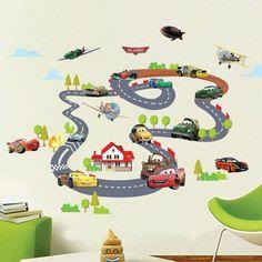 Cars-mater-chambre-de-vos-enfants-Nursey-grand-garage-Wall-Sticker-Decor