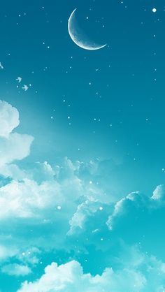 B eautiful sky Scenery Wallpaper, Cute Wallpaper Backgrounds, Pretty Wallpapers, Galaxy Wallpaper, Screen Wallpaper, Cool Wallpaper, Wallpaper Animes, Beautiful Moon, Anime Scenery