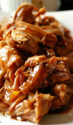 Slow Cooker Chipotle Peach BBQ Chicken