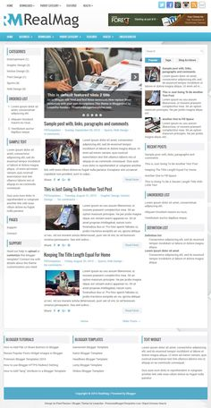 RealMag Blogger Template:  RealMag is a Fully Responsive, 3 Columns Blogger Template for News Blogs. RealMag Blogger Template has a jQuery Content Slider, 2 Dropdown Menus, 468x60 Header Banner, Related Posts, Breadcrumb, Social and Share Buttons, Left and Right Sidebars, 3 Columns Footer, Tabbed Widget and More Features.  http://www.premiumbloggertemplates.com/realmag-blogger-template/