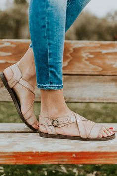 Neutral Strappy Sandal | ROOLEE