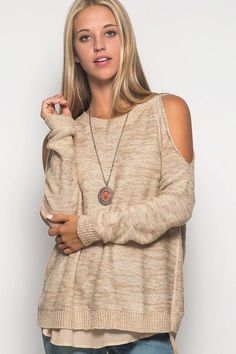 The Cold Shoulder Sweater - SALE