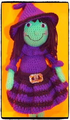 Connie's Spot© Crocheting, Crafting, Creating!: Free Willow Witch, Ghosts and Pumpkin Pattern©