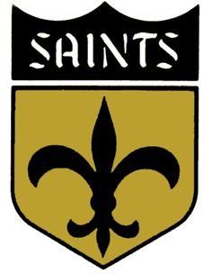 The modern New Orleans Saints logo is reminiscent of the old, given the fleur-de-lis centerpiece - pinnervor New Orleans Saints Logo, New Orleans Saints Football, American Football, Nfl Football, Football Memes, Understanding Football, Nfl Saints, Saints Gear, Sport Logos