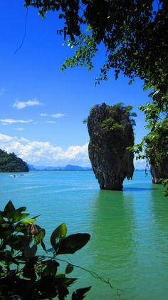 James Bond Island - just off the coast of Phuket, Thailand. Ao Phang Nga National Park, James Bond Island, Natural Structures, James Bond Movies, Phuket Thailand, Coast, Tower, Adventure, Nature