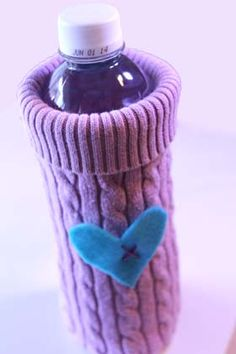 How to make Recycled Sweater - Bottle Cozy - DIY Craft Project with instructions from Craftbits.com