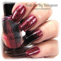 Nail Art by Belegwen: Shimmer Polish: Karina