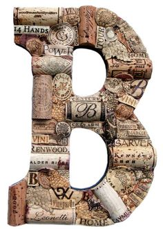 Wine cork letters - love!