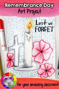 Remembrance Day Art Project, Lest We Forget Christmas Art Projects, Fall Art Projects, School Art Projects, Projects For Kids, Remembrance Day Activities, Remembrance Day Art, Elementary Art, Upper Elementary, Elementary Teacher