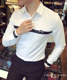 Indian Men Fashion, Mens Fashion Wear, Club Shirts, Polo T Shirts, Mens Designer Shirts, Gucci Shirts, Plain Shirts, Mens Clothing Styles, Casual Shirts For Men