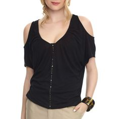 Miss Tina - Womens Cold Shoulder Tunic Top  $12