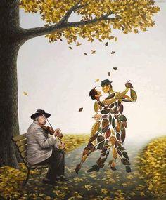 Painting by Mihai Criste. 89 comments on LinkedIn Art Floral, Pressed Flower Art, Surrealism Painting, Illustration Art, Illustrations, Art Academy, Leaf Art, Surreal Art, Tango