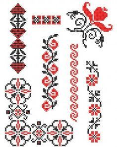 - planse punct in cruce cross stitch patterns - Cross Stitch Pillow, Cross Stitch Bookmarks, Cross Stitch Borders, Cross Stitch Charts, Cross Stitch Designs, Cross Stitch Patterns, Folk Embroidery, Cross Stitch Embroidery, Embroidery Designs