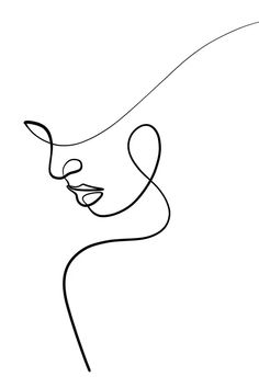 Abstract Face Art, Abstract Lines, Diy Canvas Art, Canvas Artwork, Line Artwork, Canvas Wall Art, Art Drawings Sketches Simple, Easy Drawings, Outline Art
