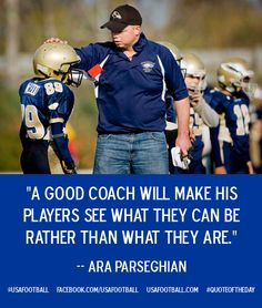 Good advice on the role a coach plays in the lives of young people. Football Banquet, Football Cheer, Football Quotes, Youth Football, Football Season, Soccer Sayings, Football Moms, Football Stuff, Baseball Mom