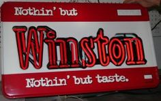 WINSTON CIGARETTES NEON SIGN : Lot 1