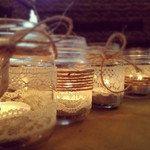 Rustic Shabby set of tea light holders. $16.00, via Etsy.