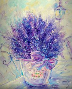 Oil Painting Flowers Art Flower Easy Painting Landscape Painting Oil P – onionral Oil Painting Flowers, Diy Painting, Painting & Drawing, Easy Paintings, Landscape Paintings, Lavender Paint, Large Abstract Wall Art, Flower Art, Watercolor Paintings