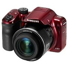 Samsung WB1100F 16.2 Megapixel Compact Camera - Red - 3 LCD - 16:9 - 35x Optical Zoom - 2x - Optical, Digital (IS) - 4608 x 3456 Image - 1280 x 720 Video - HD Movie Mode - Wireless LAN