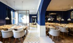 Porcelain tile | Maori series | Mythos Restaurant | Project in Craiova, Romania, by Yellow Office | Vives Azulejos y Gres