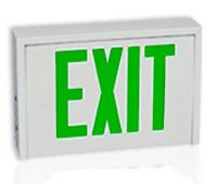 exit sign can be red or green depending where you are iar 535