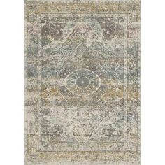 Bohemian Stone Grey Vintage Distressed Medallion Rug - x Gray, Alexander Home Transitional Fireplaces, Transitional Decor, Stone Rug, Leather Decor, Rugs, Alexander Home, Rug Buying Guide, Area Rugs, Loloi