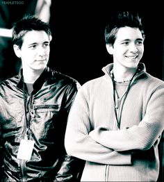 James and Oliver Phelps...they will always be Fred and George Weasley to me!