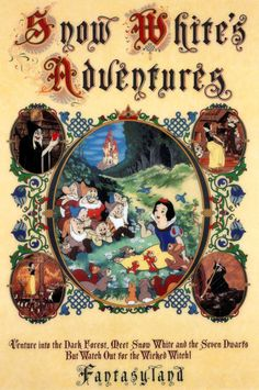*SNOW WHITE's ADVENTURES ~ Vintage Disney Collector's Poster Print - B2G1F