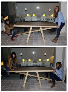 testing #tafelwip table at #miba! Designed by Marleen Jansen