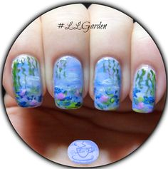 The Lacquer Legion: Garden Theme - Monet's Water Lilies   Pointless Cafe