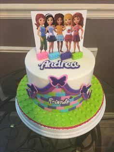 Lego Friends Cake Lego Friends Cake, Lego Friends Birthday, Lego Friends Party, 6th Birthday Cakes, Lego Birthday Party, 8th Birthday, Birthday Parties, Birthday Ideas, Yogurt Cake