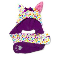 Rainbow Dalmatian Hooded Critter Scarf and Mittens | Claire's