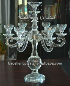 Newest 7 Arms Crystal Candelabra Wholesale Candle Holders, Candlelabra, Candles, Lanterns, Candlesticks, Crystal Candelabra, Glass, Crystal Glass, Glass Candelabra