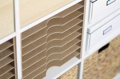 Geniales Storage für Scrapbook- und Kunstpapier im Ikea Expedit Regal