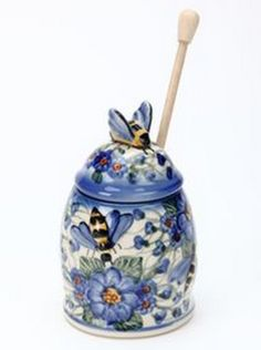 ≗ The Bee's Reverie ≗  Blue Bee Honey Pot & Spoon | zulily