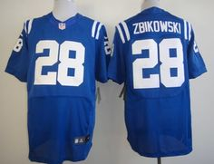 Nike Indianapolis Colts #28 Tom Zbikowski Blue Elite Jersey