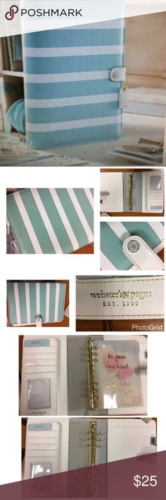 Webster's Pages A5 Teal Stripe Binder Webster's Pages A5 Teal Stripe Binder❤️️ Use Planner to organize, plan and tell the story of your life. Perfect 👌 condition webster's pages Other