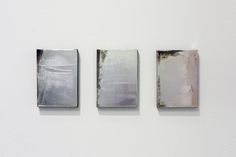 Jacob Kassay / Group for St. Louis, 2008  Acrylic and silver deposit on canvas