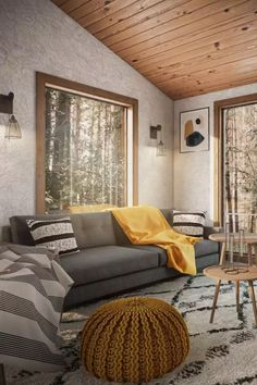 View this Industrial, Scandinavian living room design from Havenly interior designer Karie. Shop products, explore rooms, and even get started designing your own space.