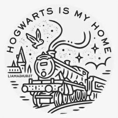 I had the pleasure of doing this Hogwarts Express tshirt design for itsamagicaladventure I m really happy with how this one turned out Harry Potter Sketch, Harry Potter Drawings, Harry Potter Tumblr, Harry Potter Anime, Harry Potter Art, Stickers Harry Potter, Harry Potter Symbols, Harry Potter Tattoos, Circle Drawing