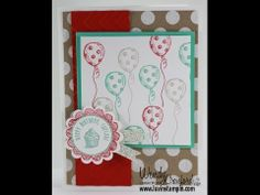 Happy Birthday Card.  Using Sketched Birthday, Fresh Prints Designer Series Paperstack from the Occasions Stampin' UP! Catalog 2014. http://youtu.be/oXNvNi59SlY