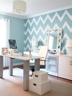Think of your home office as an extension of the rest of the house, and use the same design principles in it.   Design by Jo Alcorn.
