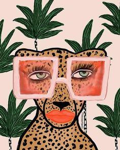Tropical Glam Cat Print – Bouffants And Broken Hearts Frida Art, Cat Art Print, Arte Pop, Canvas Prints, Big Canvas, Framed Prints, Pop Art Prints, Canvas Artwork, Collage Art