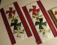 Doodle-head.com: Quilting - Twist n Spin Christmas Placemats